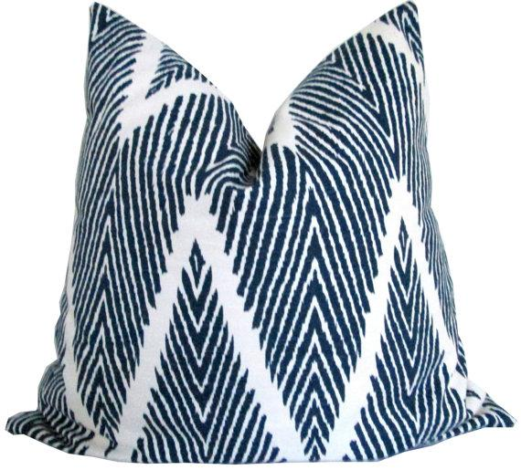 Navy Blue Chevron Decorative Pillow Cover Awesome Navy And White Decorative Pillows