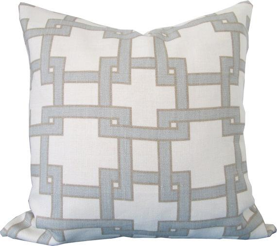 designer grey decorative pillow cover view full size