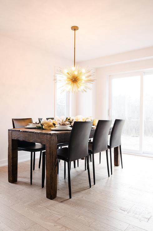 sea urchin chandelier in dining room contemporary dining room