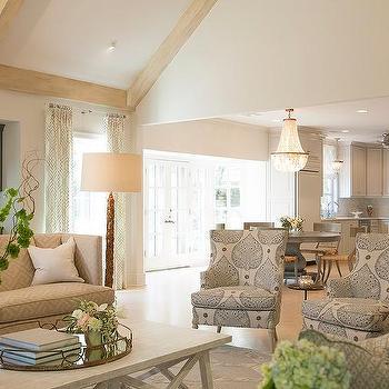greek key sofa - White Washed Wood Ceilings
