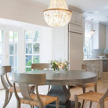 zinc dining table design ideas