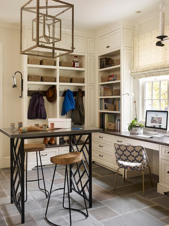 Craft Room And Mudroom Combo Transitional Laundry Room