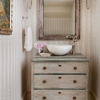 small french powder room