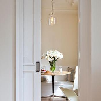Dining Room With Pocket Door