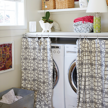 Curtain Ideas To Hide Washer And Dryer Curtain