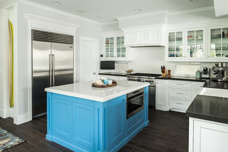 square turquoise kitchen island cottage kitchen square kitchen island design ideas remodel pictures houzz