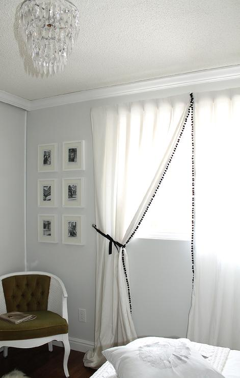 Curtains Ideas black and white panel curtains : Black and White Curtains - Contemporary - bedroom - EJ Interiors