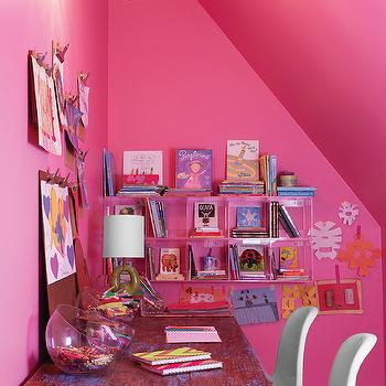 Bubble Gum Pink Walls Design Ideas
