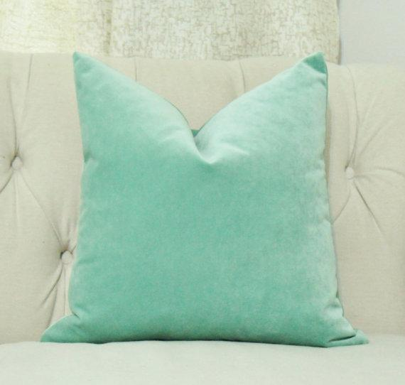 Beryl Green Cotton Velvet Throw Pillows World Market