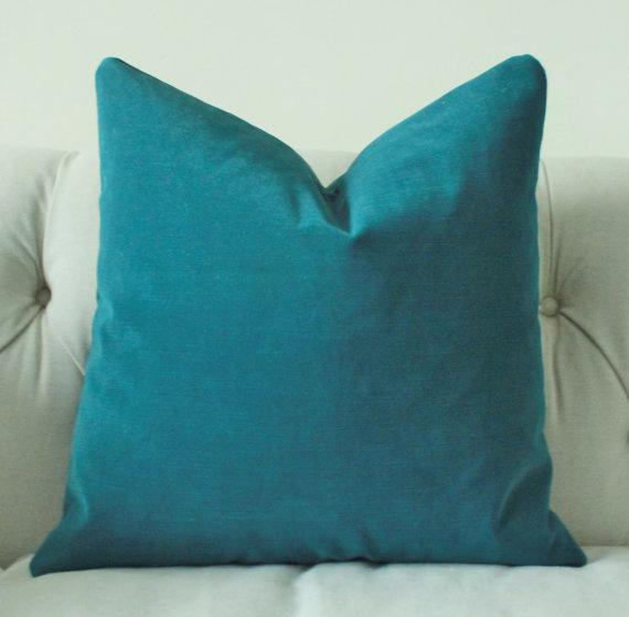 Indigo Velvet Pillow Cover Pottery Barn