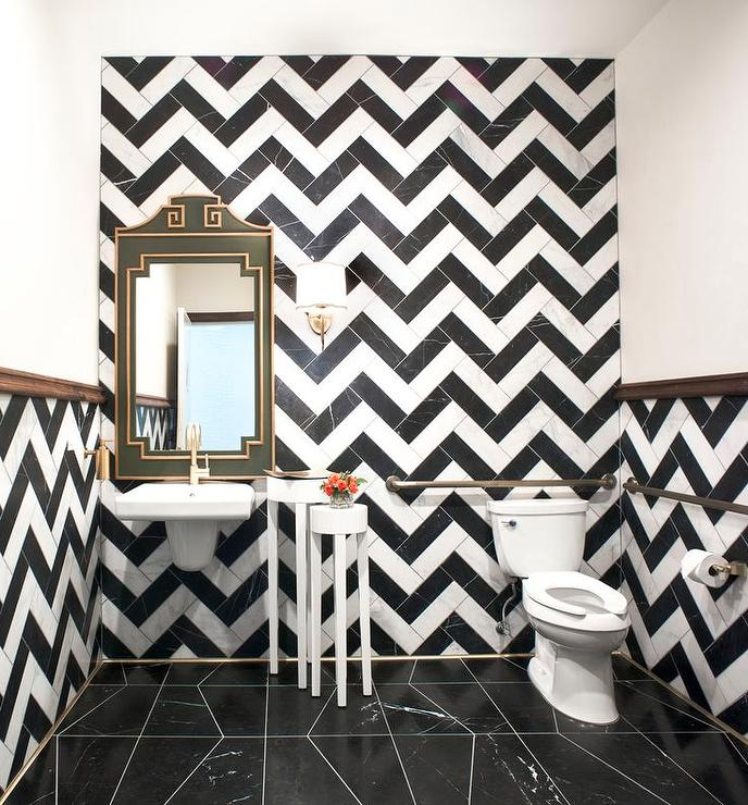 tile patterns floor black makeover bathroom white ave and floors curbly flooring