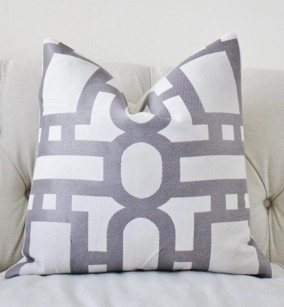 Light Gray Pillow Cover