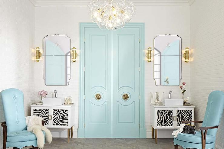 Tiffany Blue Bathroom Designs : And Glass Bubbles Chandelier - Design, decor, photos, pictures, ideas ...