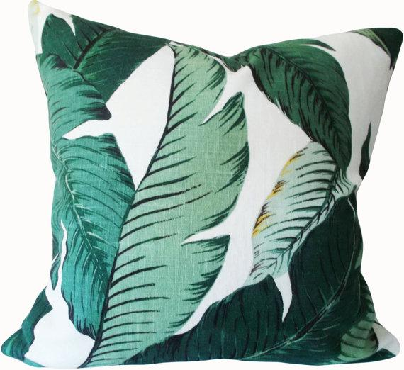 Tommy Bahama Swaying Palm Leaves Indoor Outdoor Green Decorative Gorgeous Tommy Bahama Decorative Pillows