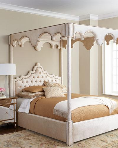 William Ivory Canopy Bed & Ivory Canopy Bed
