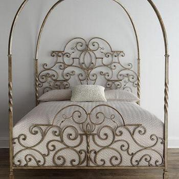 bedsheadboards gold brass canopy bed