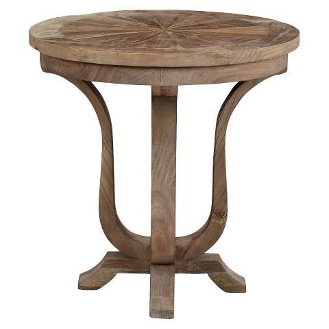 round wood side table Maaya Home Brown Side Table round wood side table