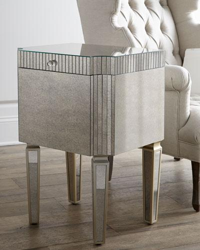 Silver Mirrored File Box