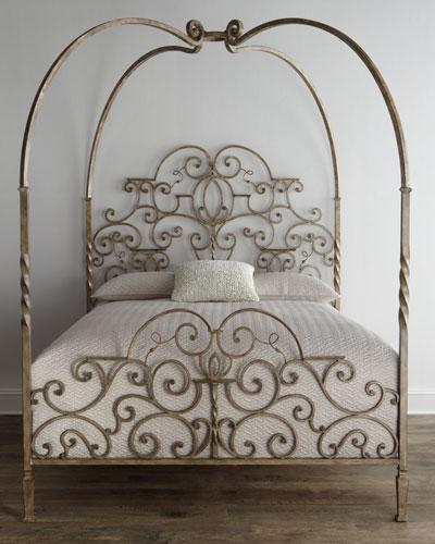 Gold Tufted Headboard