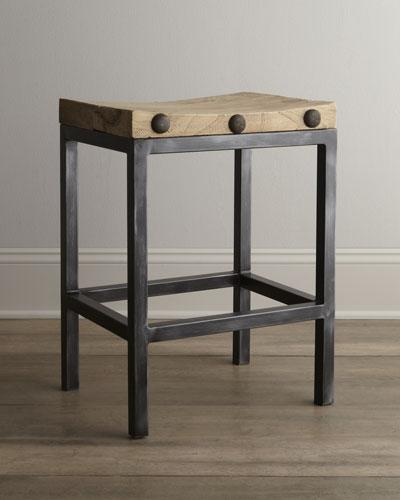 Tremendous Wilber Black And Brown Stool Ibusinesslaw Wood Chair Design Ideas Ibusinesslaworg