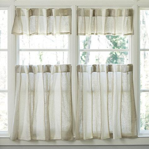 French Stripe Cafe Curtain - Pottery Barn