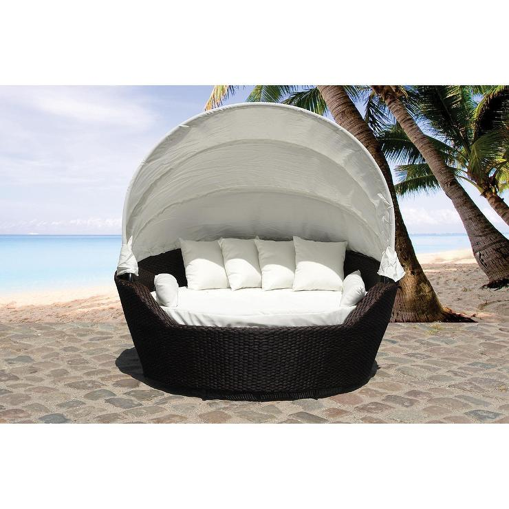 Outdoor Palermo Wicker Patio Canopy Daybed  sc 1 st  Decorpad & Palermo Wicker Patio Canopy Daybed
