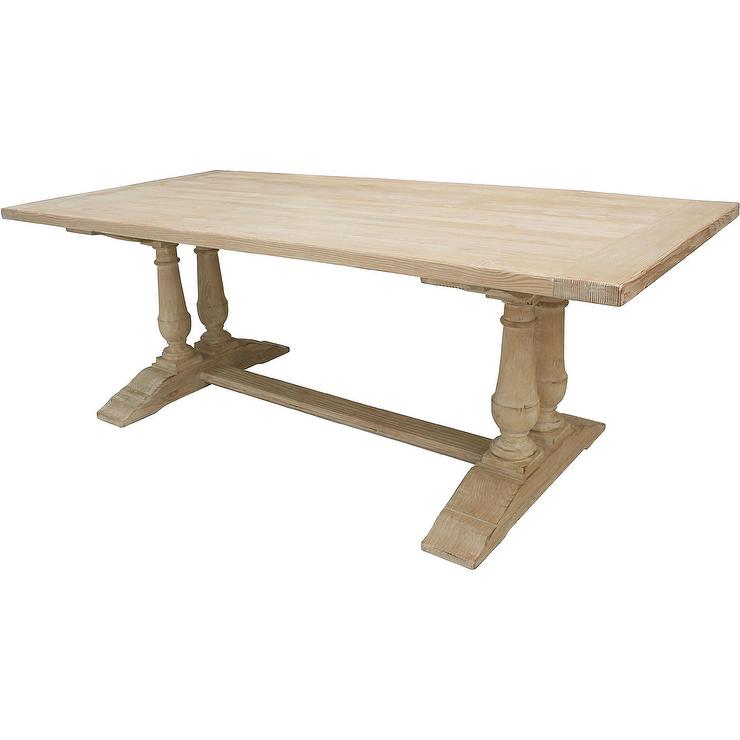 Capistrano Reclaimed Wood Brown Off White Dining Table