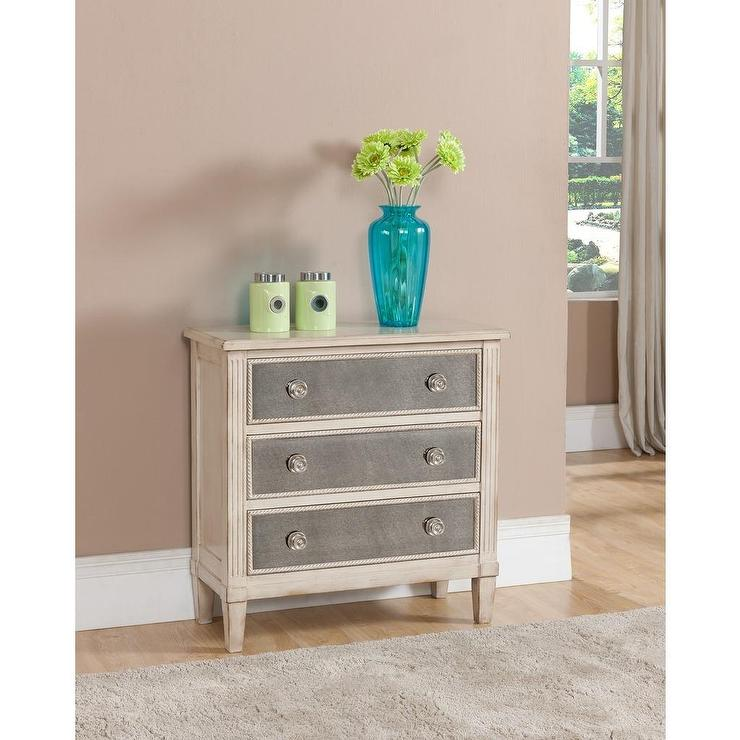 Wonderful Treasure Trove Accents Liberty Hill Ivory Three Drawer Chest