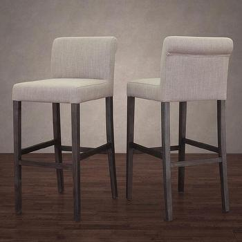Colton Bisque French Linen Barstool Overstock Com