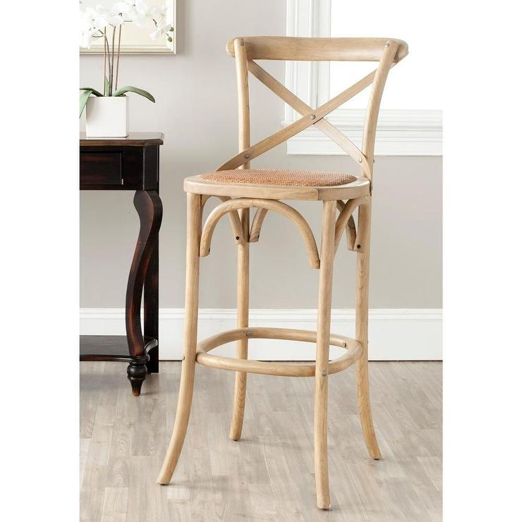 Safavieh Franklin Weathered Oak 30 Inch Brown Bar Stool