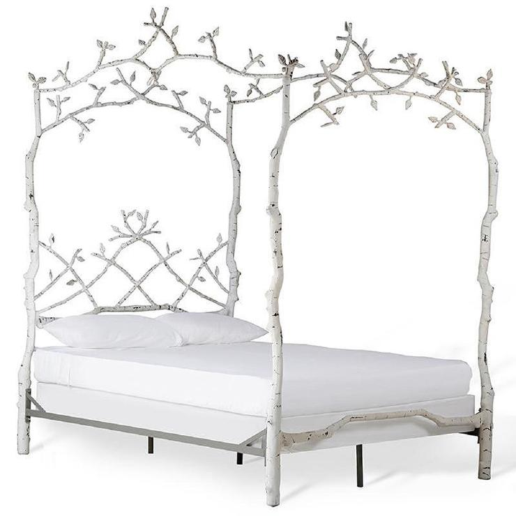 corsican white iron mature trees queen bed frame view full size - Full White Bed Frame