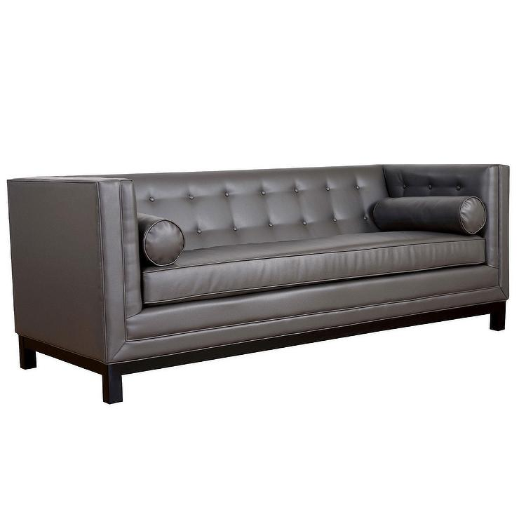Stupendous Zoe Grey Leather Sofa Interior Design Ideas Gentotthenellocom