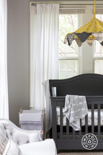yellow and gray nursery ideas - contemporary - nursery