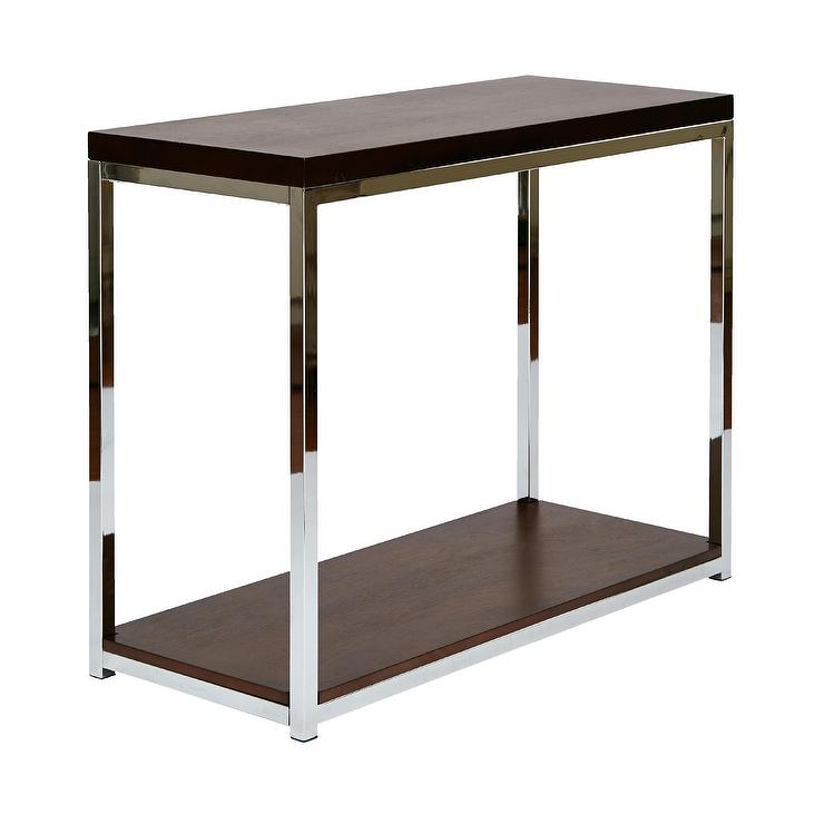 Wall street foyer table in espresso and white by ave six for Entry wall table