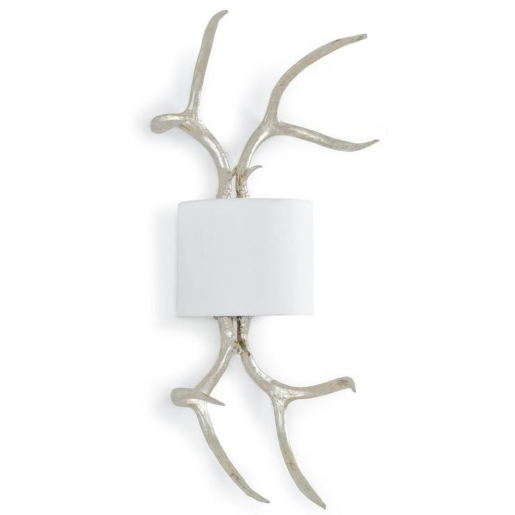 Regina Andrew Lighting Antler White and Silver Wall Sconce  sc 1 st  Decorpad & Andrew Lighting Antler White and Silver Wall Sconce azcodes.com