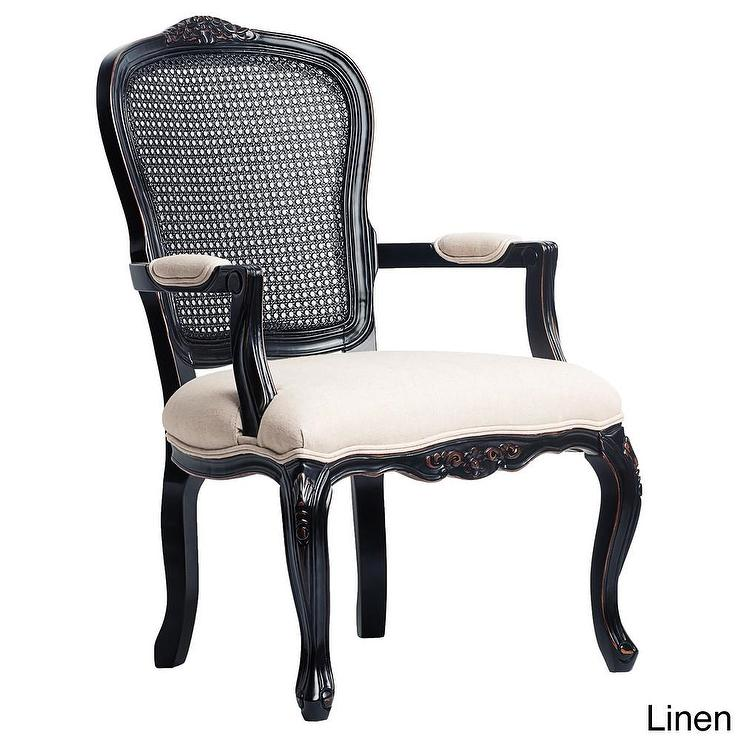 West Indies Hand Rubbed Black Accent Chair