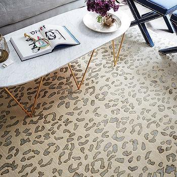 nickel oval coffee table design ideas
