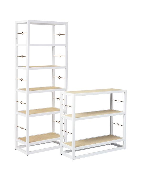 Cabot White Bookshelf