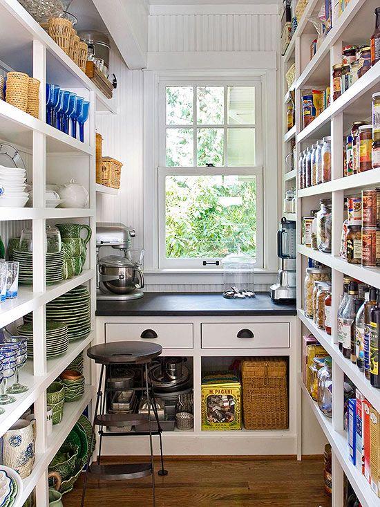 cottage walk in pantry - cottage - kitchen