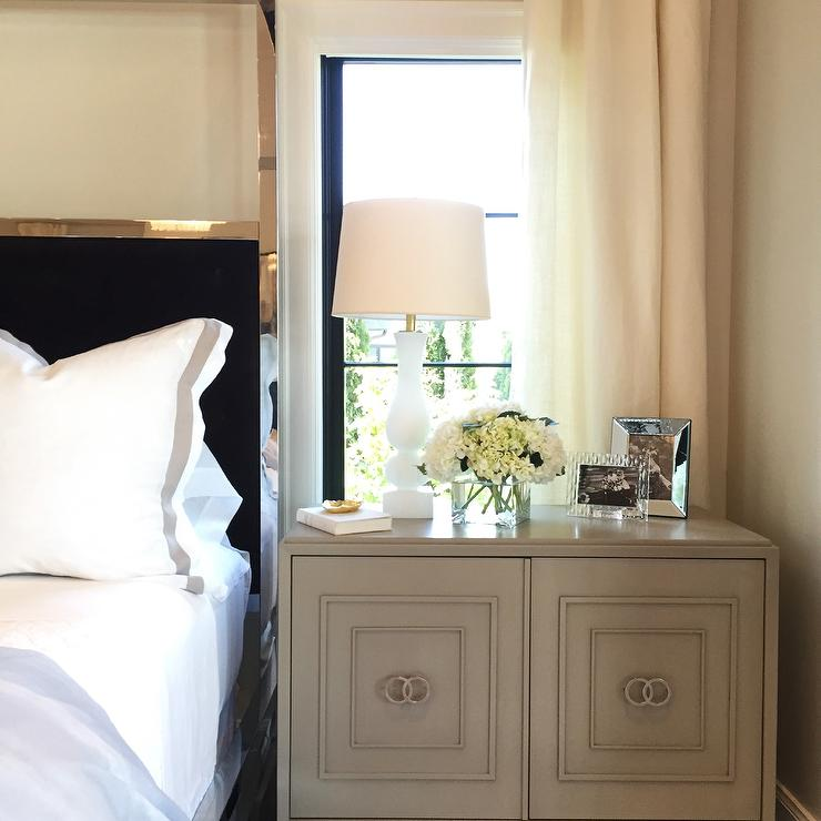 Nightstand In Front Of Window Design Decor Photos