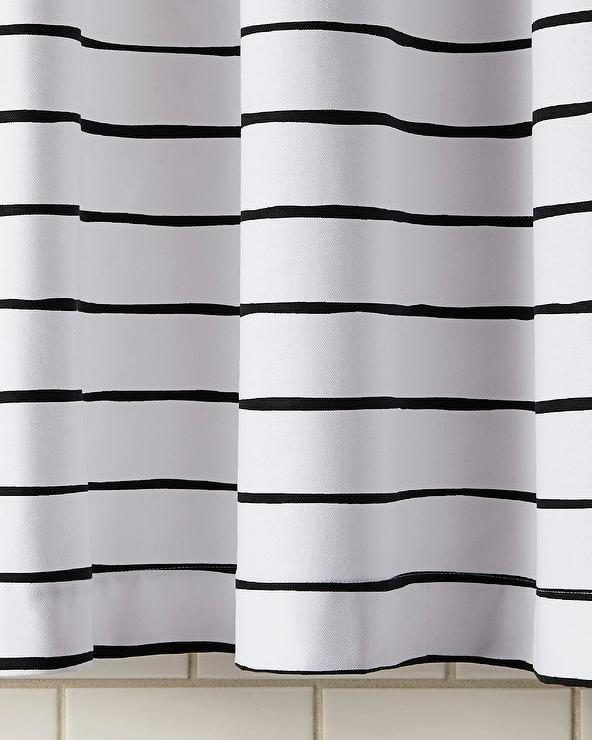 Black White Striped Shower Curtain Curtain Menzilperde Net