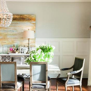 Dining Room With Decorative Wall Moldings