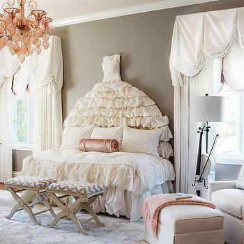 Beaded nursery chandelier design ideas ivory ruched daybed aloadofball