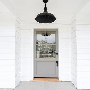 white front doorWhite House Gray Front Door Design Ideas