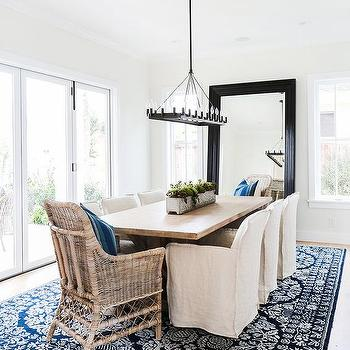Dining Room Leaning Mirror Design Ideas