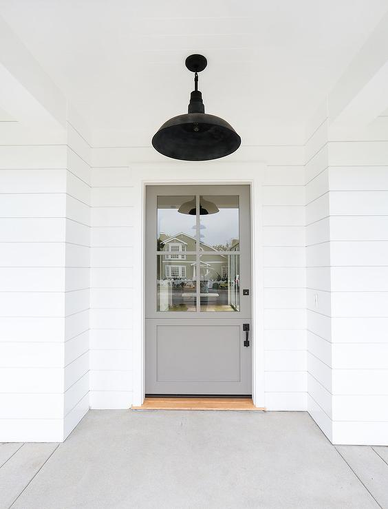 White Home With Gray Door