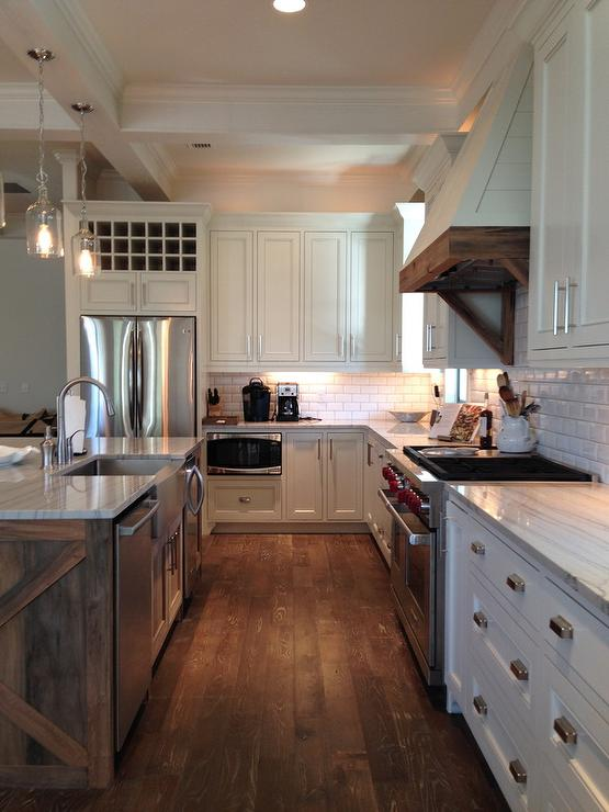 Plank Kitchen Hood And Corbels Transitional Bathroom