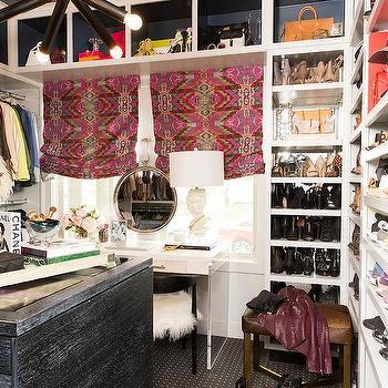 Dream closet ideas transitional closet for Closet island with glass top