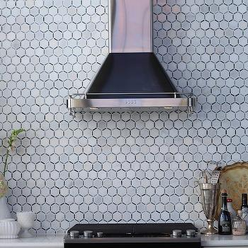 Bathroom vanity light glass shades - Amazing Kitchen Features A Black And Silver Range Hood Lining A Marble
