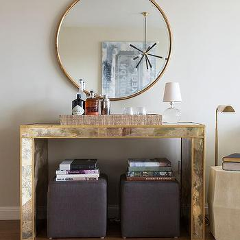 Gold Console Table Design Ideas